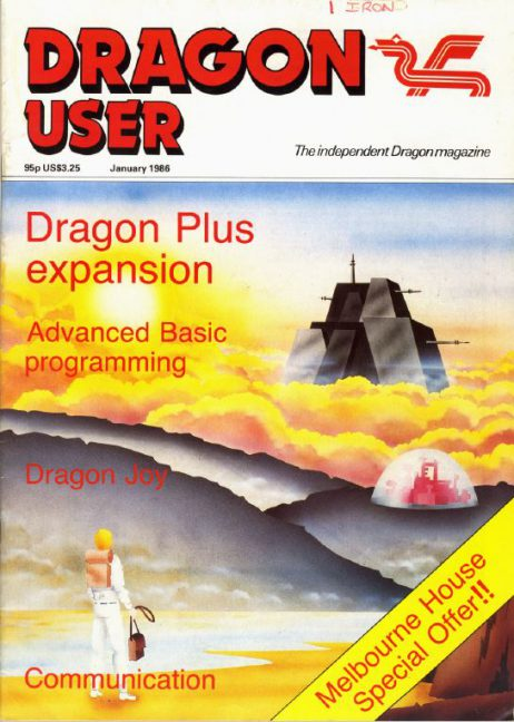 Dragon User - Jan 1986 Front Cover (from archive.org)