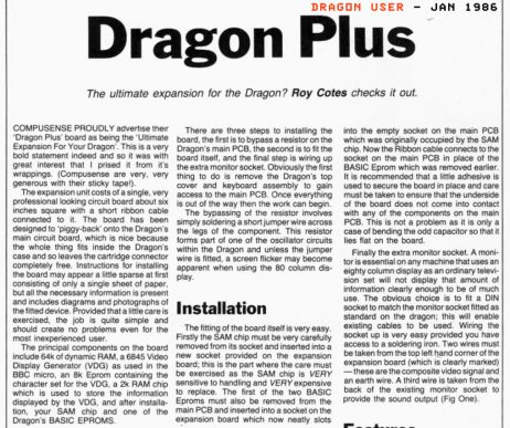 Dragon User - Article part 1 of 5 (from archive.org)