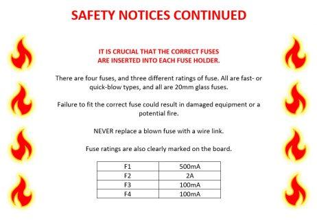 Dragon PSU Board - Safety Notice 2